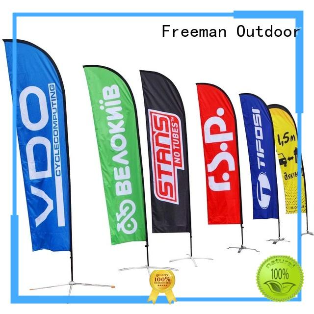 FeaMont fiberglass feather flag banners in different color for advertising