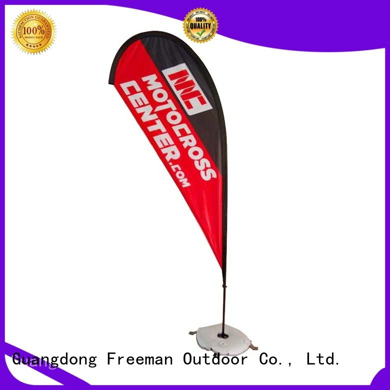 FeaMont advertising beach flag banners in different color for outdoor activities