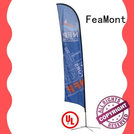 FeaMont feather beach flag banners for sale for trade show