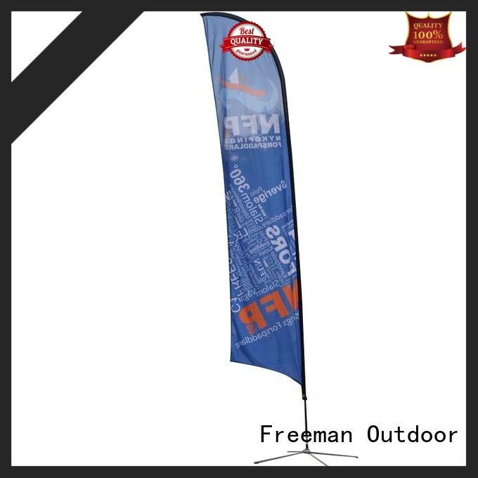 printed beach flag banners certifications for outdoor activities FeaMont