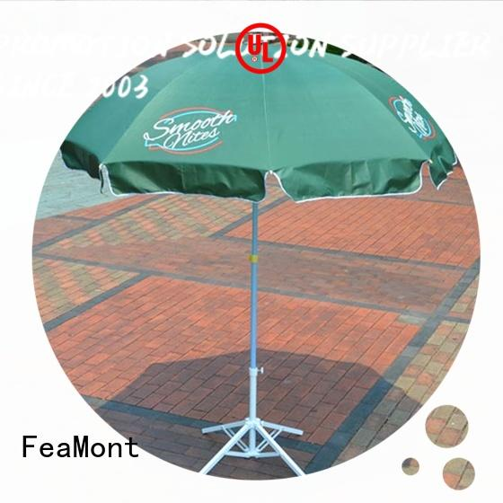 FeaMont printing 9 ft beach umbrella effectively for exhibition