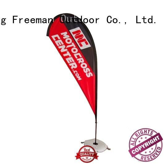 resistance mini beach flag certifications for sport events Freeman Outdoor