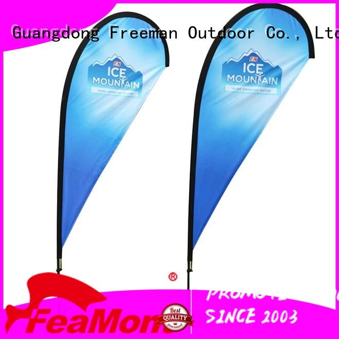 FeaMont fiberglass event flag certifications for outdoor exhibition