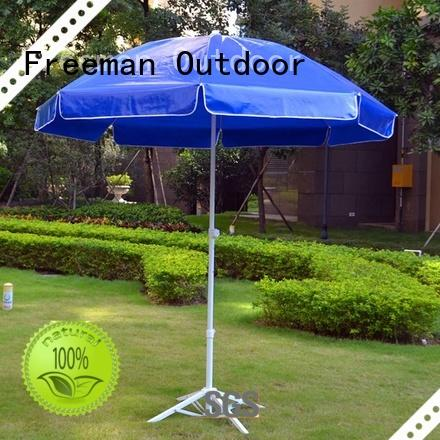 FeaMont advertising uv beach umbrella experts in street