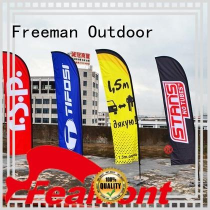 Freeman Outdoor affirmative white beach flag cost for outdoor activities