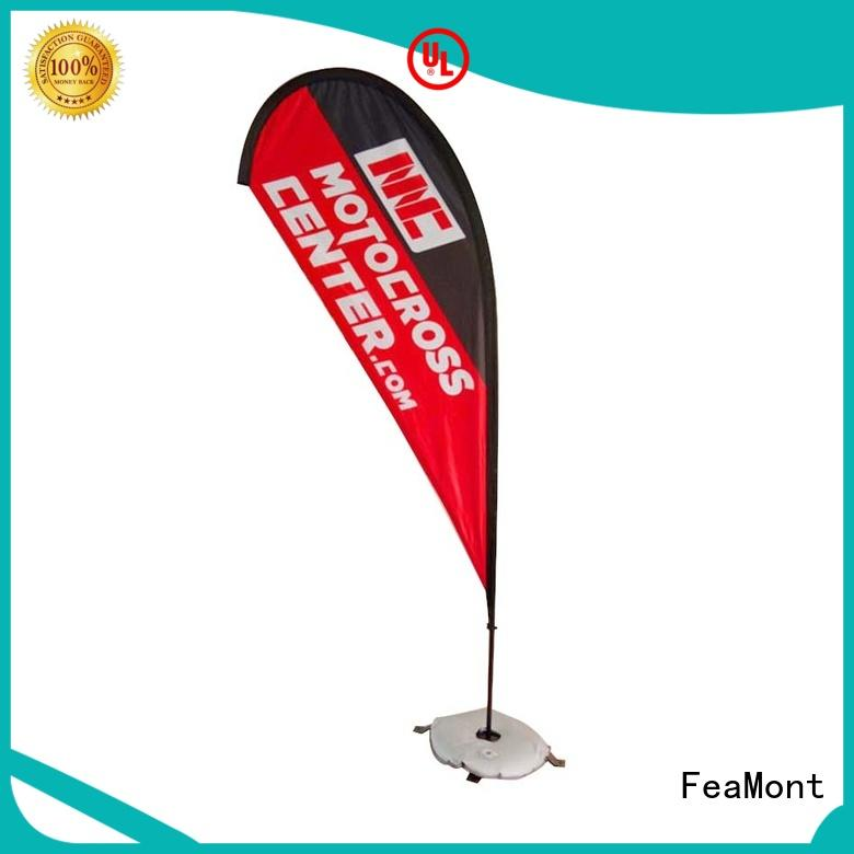 FeaMont fiberglass feather flag marketing for outdoor activities