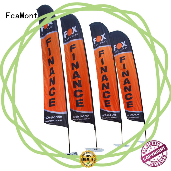 FeaMont outdoor mini beach flag feather in street