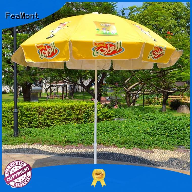 FeaMont printing 8 ft beach umbrella China for sporting