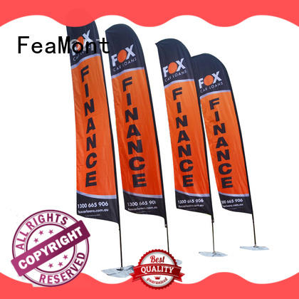 FeaMont resistance beach flag printing marketing for advertising