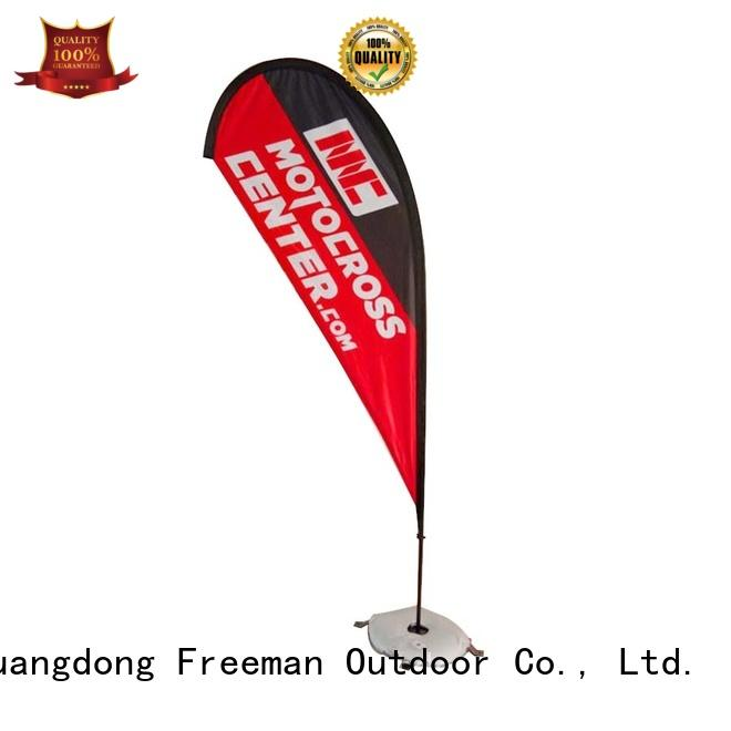 FeaMont aluminum teardrop flag certifications for outdoor activities