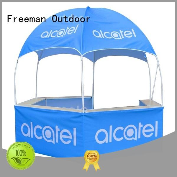 FeaMont printed dome kiosk production for sporting