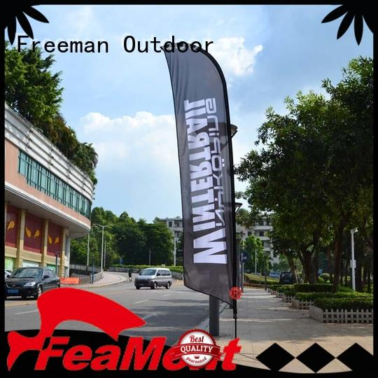 feather flag banners wholesale in street