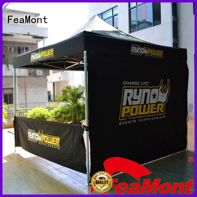 FeaMont fabric easy up tent certifications for sport events