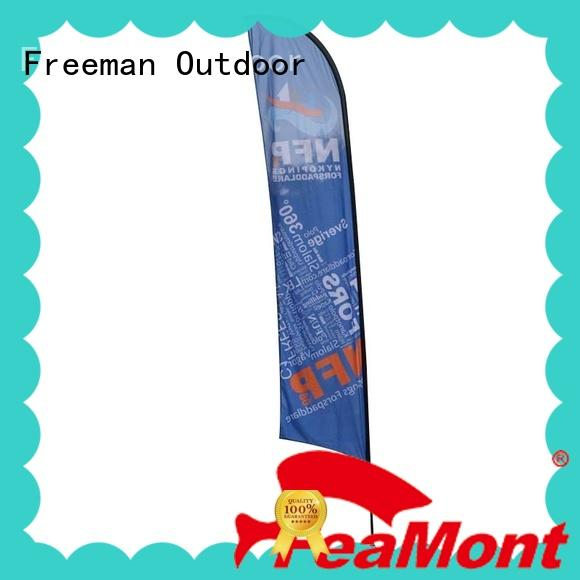FeaMont wind-force custom advertising flags cost for outdoor exhibition