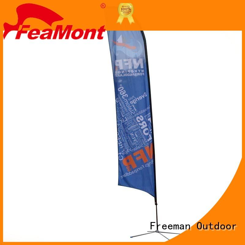 printed custom advertising flags aluminum for advertising FeaMont