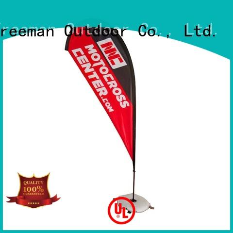 FeaMont affirmative feather flags in different color in street