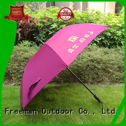 FeaMont ribs golf umbrella marketing for exhibition