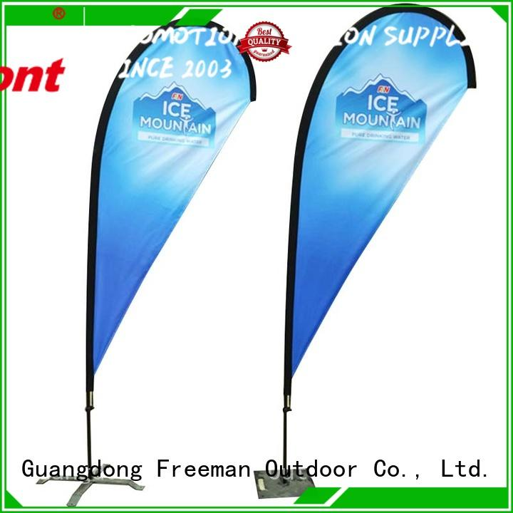 nice custom advertising flags printed type for outdoor activities