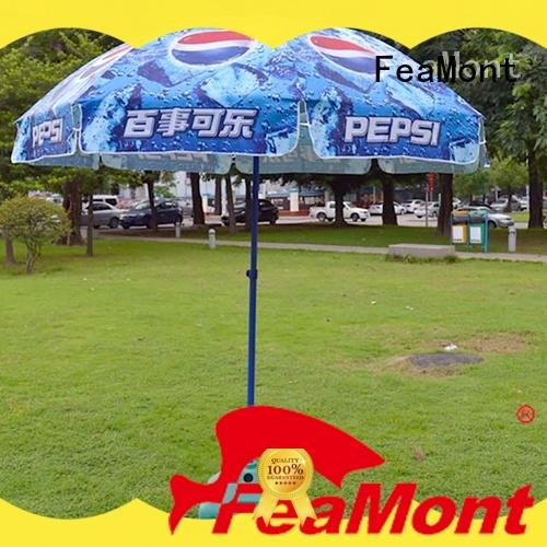 FeaMont red beach umbrella effectively for event