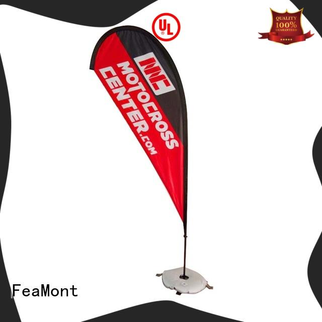 FeaMont feather beach flag banners in different shape for sporting