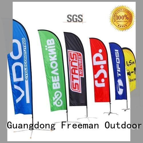 flag banners feather in different color for sports
