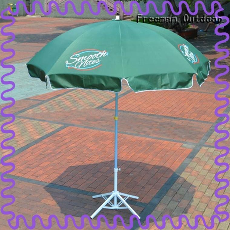 large beach umbrella pole in street