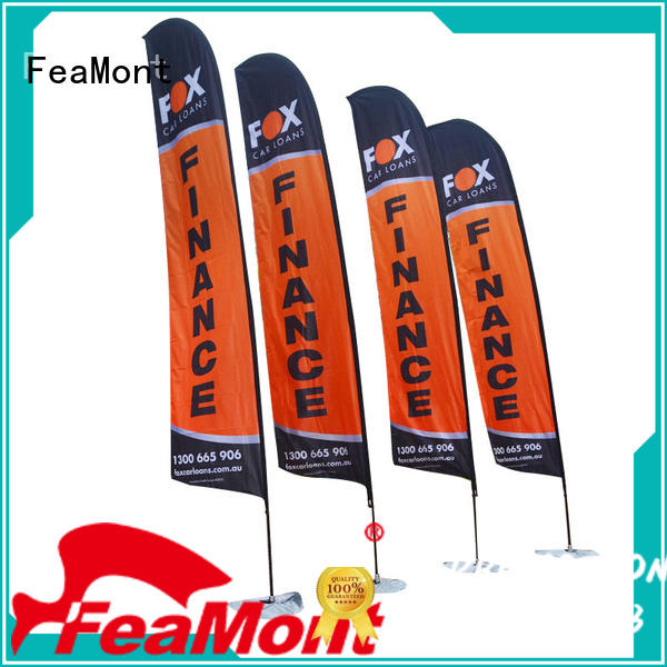 FeaMont printed custom advertising flags in different color for sports