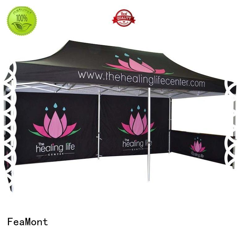 FeaMont customized display tent certifications for sports