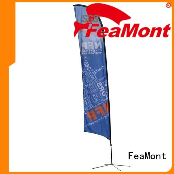 FeaMont excellent custom advertising flags in different shape for competition