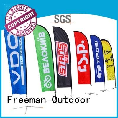 advertising custom beach flags certifications for sport events FeaMont