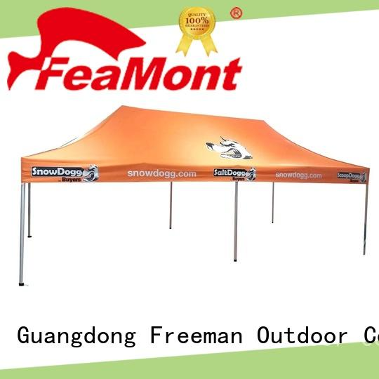 FeaMont printed display tent production for disaster Relief