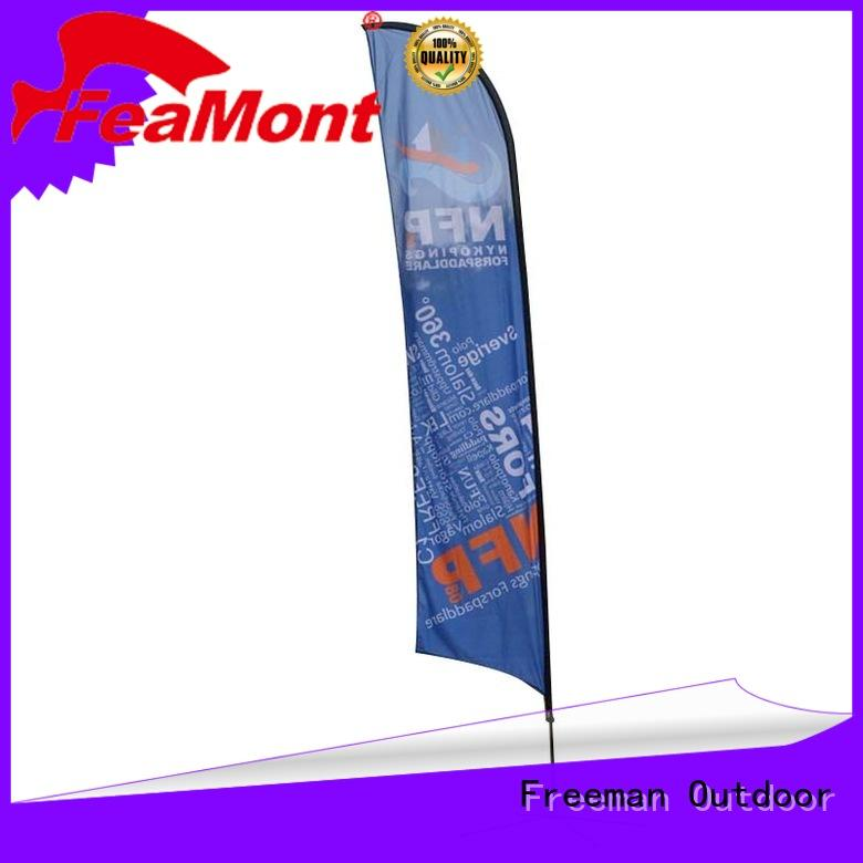 FeaMont wind-force feather flags marketing for engineering