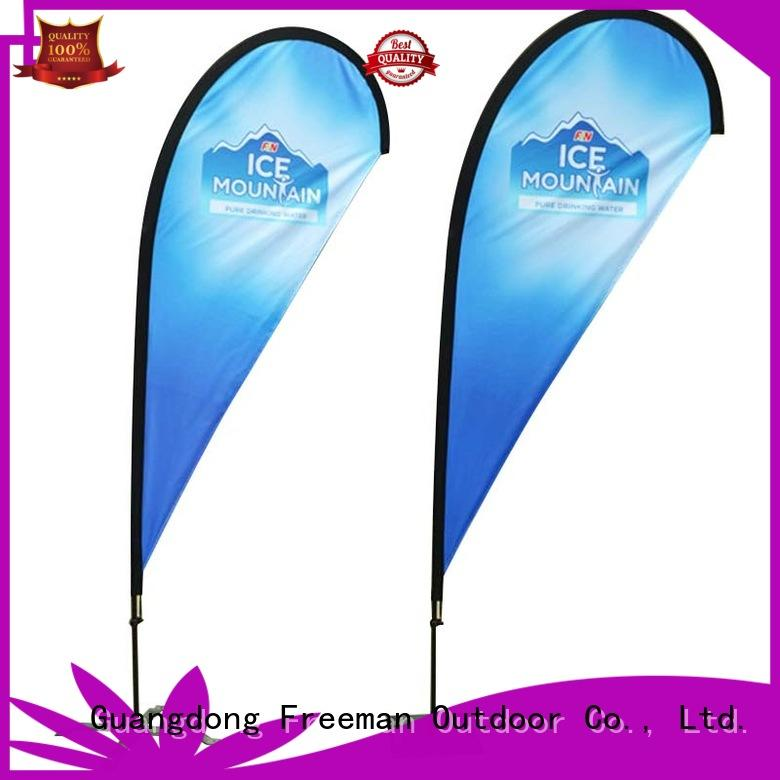 FeaMont palette advertising feather flags in different color for advertising