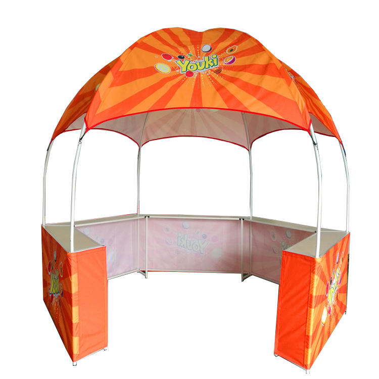 Outdoor hexagonal display advertising dome kiosk gazebo tent for promotion sales