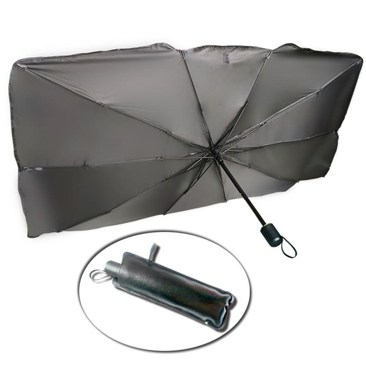 New design Anti-UV Portable car sunshade cover UV resistant foldable car umbrella for internal use