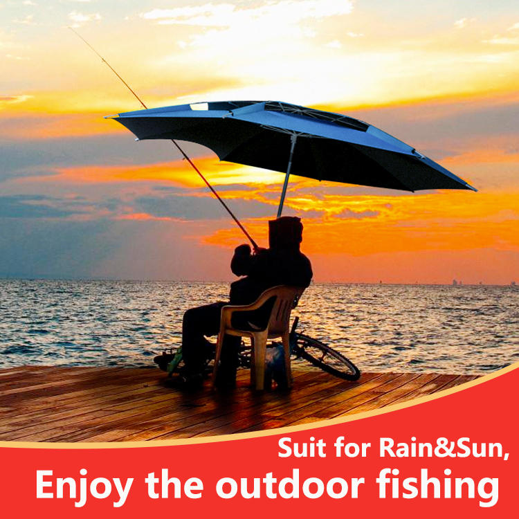 Wholesale high quality Vented outdoor fishing umbrella With Coating For Shelter